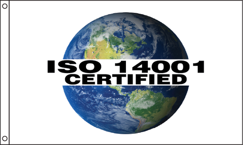 "ISO 14001 - Globe Flag ""EXCLUSIVE"""
