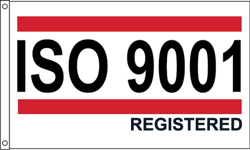 ISO 9001 - Red/White/Blue Flag
