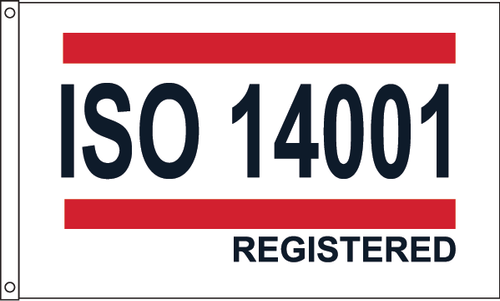 ISO 14001 - Red/White/Blue Flag