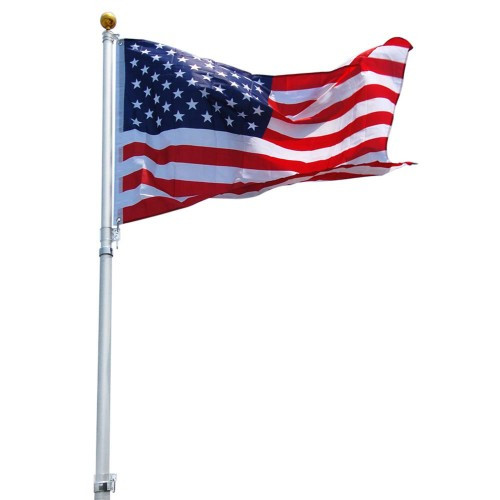Telescoping Flagpole includes an American Flag