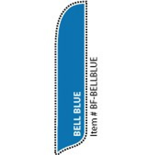 Blade Banner in Solid Color - Bell Blue - 2'x11' - For Outdoor Use