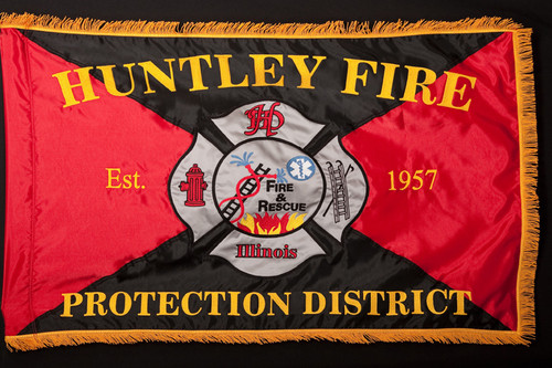 Huntley Fire Department Embroidered Flag
