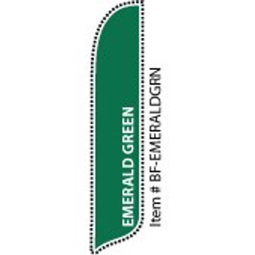 Blade Banner in Solid Color - Emerald Green - 2'x11' - For Outdoor Use