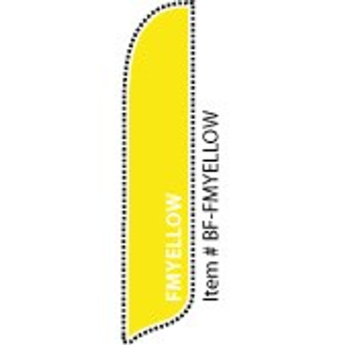 Blade Banner in Solid Color - FM Yellow - 2'x11' - For Outdoor Use