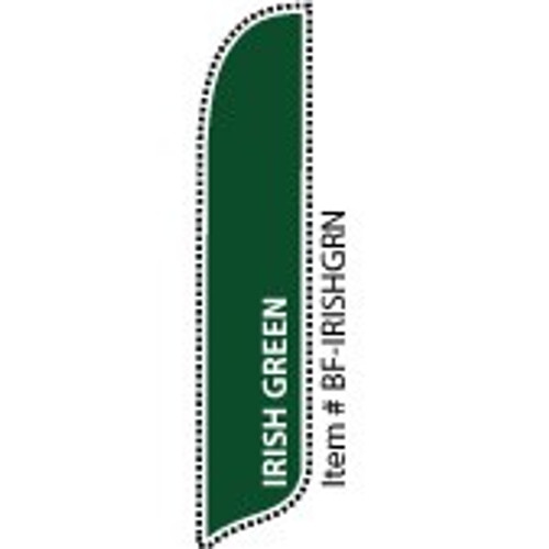 Blade Banner in Solid Color - Irish Green - 2'x11' - For Outdoor Use