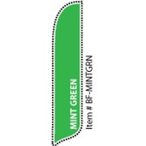 Blade Banner in Solid Color - Mint Green - 2'x11' - For Outdoor Use