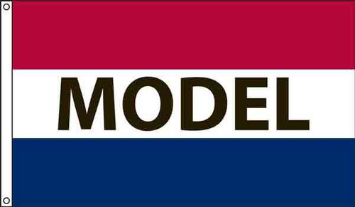 """""""Model"""" Message Flag - 3'x5' - For Outdoor Use"""