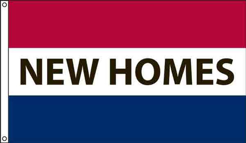 """""""New Homes"""" Message Flag - 3' x 5'"""
