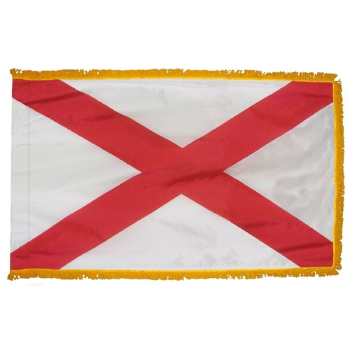 Alabama - State Flag with Fringe - For Indoor and Ceremonial Use