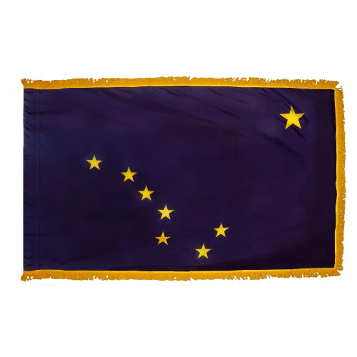 Alaska - State Flag with Fringe - For Indoor and Ceremonial Use