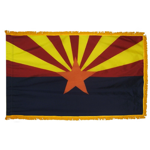 Arizona - State Flag with Fringe - For Indoor and Ceremonial Use