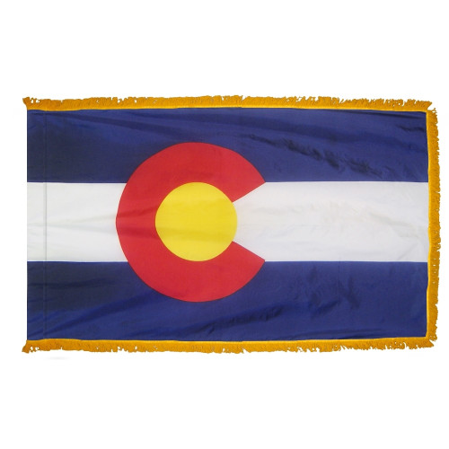 Colorado - State Flag with Fringe - For Indoor Use