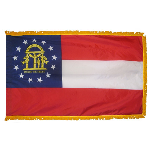 Georgia - State Flag with Fringe - For Indoor Use