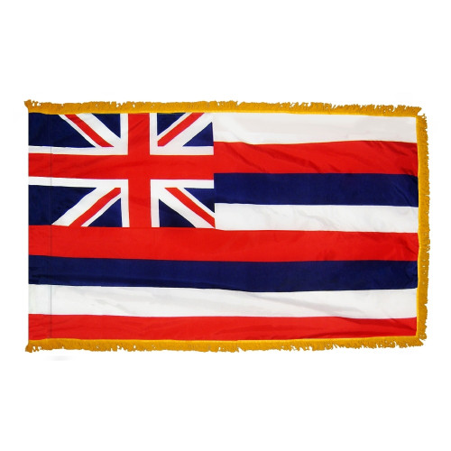 Hawaii flag with pole sleeve and fringe