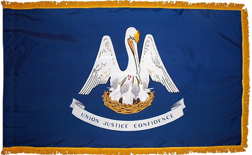 Louisiana - State Flag with Fringe - For Indoor and Ceremonial Use