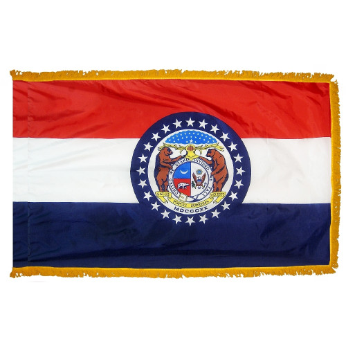 Missouri - State Flag with Fringe - For Indoor Use