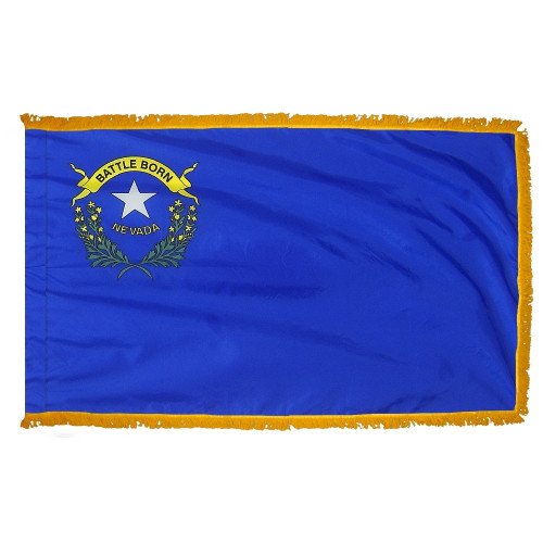 Nevada flag with pole sleeve and fringe