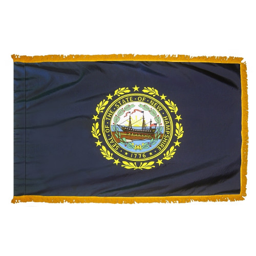 New Hampshire - State Flag with Fringe - For Indoor Use