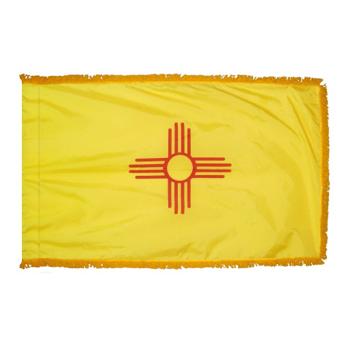 New Mexico - State Flag with Fringe - For Indoor and Ceremonial Use