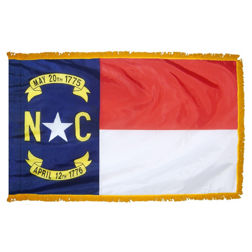 North Carolina - State Flag with Fringe - For Indoor Use