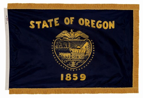 Oregon - State Flag with Fringe - For Indoor Use