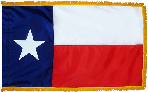 Texas - State Flag with Fringe - For Indoor Use