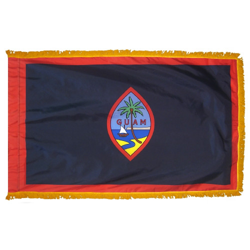 Guam - Territory Flag with Fringe - For Indoor Use