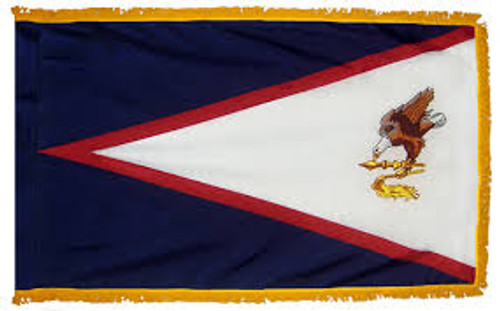 American Samoa - Territory Flag with Fringe - For Indoor Use