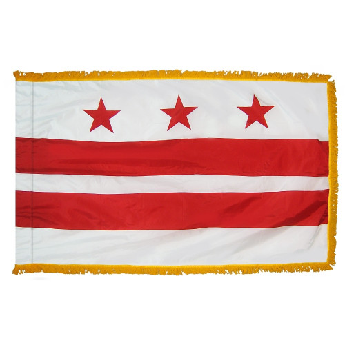 District of Columbia - Territory Flag with Fringe - For Indoor Use