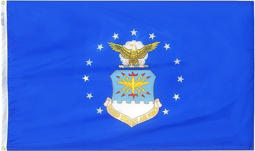 Air Force Flag with Heading and Grommets