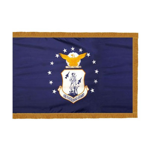 Air National Guard Flag with Fringe - 3'x5' - For Indoor Use