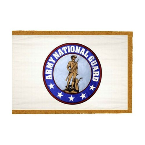 Army National Guard with Fringe - 3'x5' - For Indoor Use