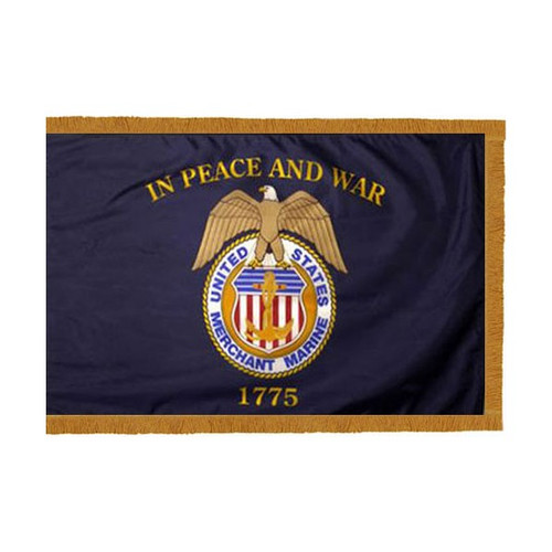 Merchant Marines Flag with Fringe (Pole Sleeve Style)
