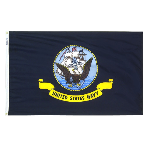 Navy Flag with heading and grommets