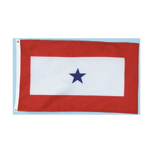 Blue Star Service Flag - For Outdoor Use - 3' X 5'
