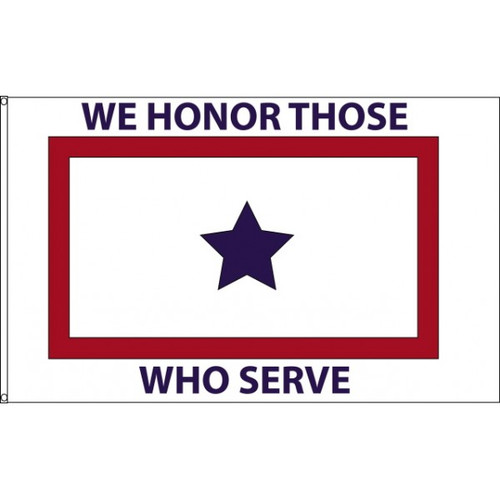 """We Honor Those Who Serve"" Flag - 3'x5' - For Outdoor Use"
