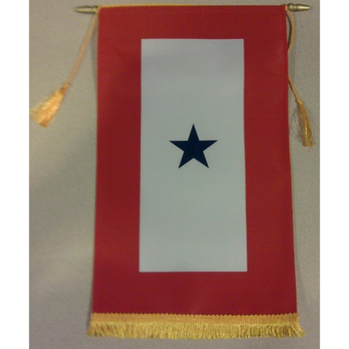 "Blue Star Service Banner Flag - 8""x14"" - For Indoor Use"