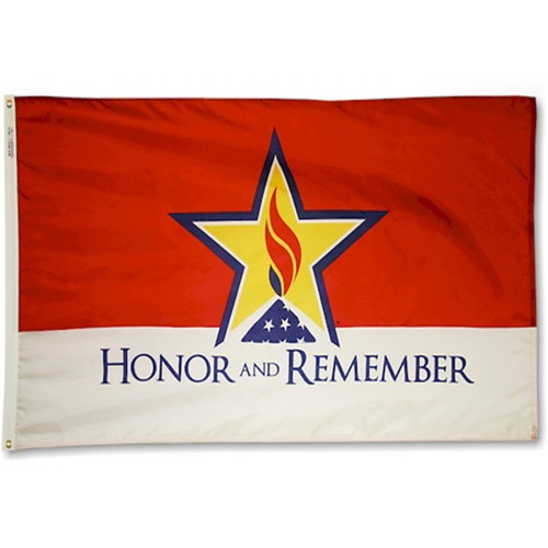 """Honor and Remember"" Flag - For Outdoor Use"