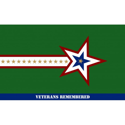 """Veterans Remembered"" Flag - 3'x5' - For Outdoor Use"