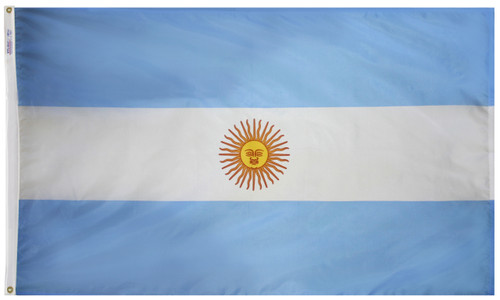 Argentina - Outdoor Flag with heading & grommets