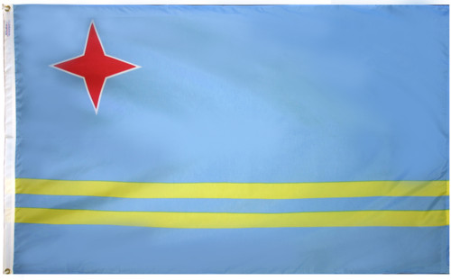 Aruba - Outdoor Flag with heading & grommets
