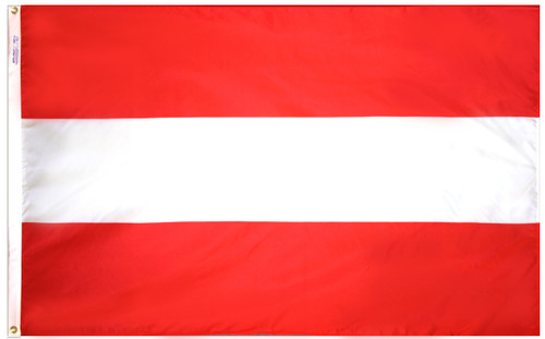Austria - Outdoor Flag with heading & grommets
