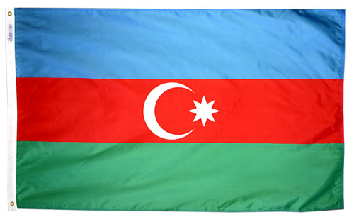 Azerbaijan - Outdoor Flag with heading & grommets
