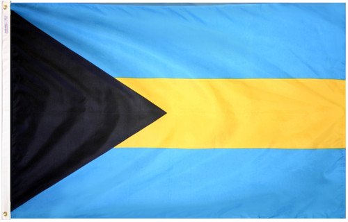 Bahamas - Outdoor Flag with heading & grommets