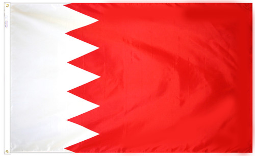 Bahrain - Outdoor Flag with heading & grommets