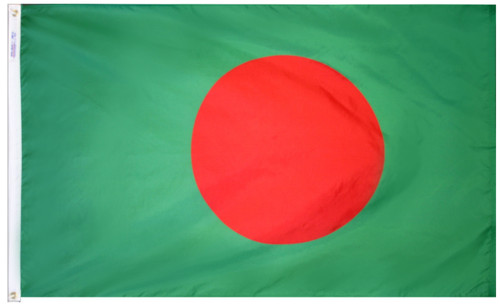 Bangladesh - Outdoor Flag with heading & grommets