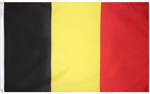 Belgium - Outdoor Flag with heading & grommets