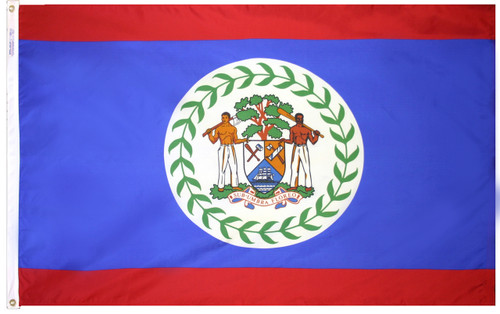 Belize - Outdoor Flag with heading & grommets