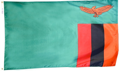 Zambia - Outdoor Flag with heading & grommets