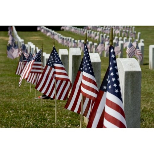 Grave Marker American Flags